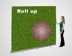 Roll- up para usar como photocall